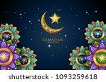 ramadan kareem greeting... | Shutterstock . vector #1093259618