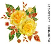 decorative decoration  paisley...   Shutterstock . vector #1093264319