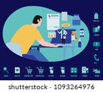 online doctor service vector... | Shutterstock .eps vector #1093264976