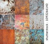 seamless pattern. metal rusty... | Shutterstock . vector #1093266140
