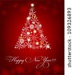 2013 new year postcard. vector... | Shutterstock .eps vector #109326893