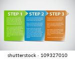 cards with steps | Shutterstock .eps vector #109327010
