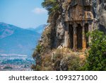 amyntas rock tombs   4th bc... | Shutterstock . vector #1093271000