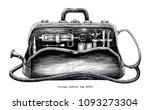 vintage medical bag hand... | Shutterstock .eps vector #1093273304