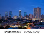 Skyline Of Fort Worth Texas At...