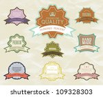 vintage label for retro banners....   Shutterstock .eps vector #109328303