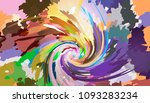 colorful swirl background in... | Shutterstock .eps vector #1093283234