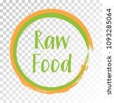 green orange raw food diet... | Shutterstock .eps vector #1093285064