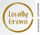 locally grown food icon  brown... | Shutterstock .eps vector #1093285484