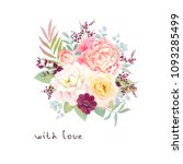 beautiful floral decor with... | Shutterstock .eps vector #1093285499