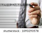 businessman drawing graphics a... | Shutterstock . vector #1093293578