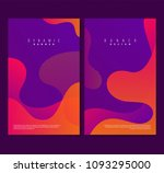 trendy poster set with dynamic... | Shutterstock .eps vector #1093295000