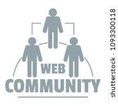 web community logo. simple...