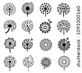 logo with dandelion icons set.... | Shutterstock .eps vector #1093300160
