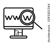 web site window icon isolated.... | Shutterstock .eps vector #1093301564