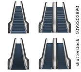 escalator elevator stairs lift... | Shutterstock .eps vector #1093302890