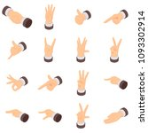 hand gesture palm pointer icons ... | Shutterstock .eps vector #1093302914
