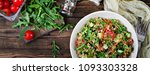 salads with quinoa   arugula ... | Shutterstock . vector #1093303328