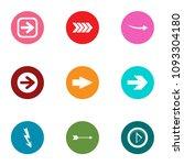 arrowhead icons set. flat set... | Shutterstock .eps vector #1093304180
