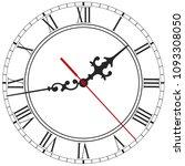 elegant clock face with roman... | Shutterstock .eps vector #1093308050