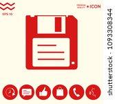 floppy disk icon | Shutterstock .eps vector #1093308344