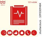 electrocardiogram symbol icon   Shutterstock .eps vector #1093309484