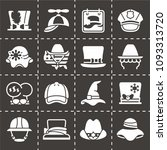 vector national hat day icon set | Shutterstock .eps vector #1093313720