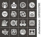 vector national cherry pie day... | Shutterstock .eps vector #1093313780