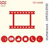 camera roll  photographic film  ... | Shutterstock .eps vector #1093313930