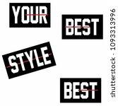 stylish trendy slogan tee t... | Shutterstock .eps vector #1093313996