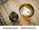 top view of old vintage brass... | Shutterstock . vector #1093316126