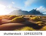 majestic landscape on sunny day.... | Shutterstock . vector #1093325378