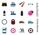 solid vector icon set   weight... | Shutterstock .eps vector #1093327874