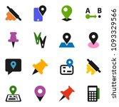 solid vector icon set  ... | Shutterstock .eps vector #1093329566