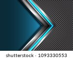 abstract blue silver arrow with ... | Shutterstock .eps vector #1093330553