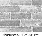 bricks wall black and white... | Shutterstock . vector #1093333199