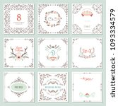 ornate frames design and rustic ... | Shutterstock .eps vector #1093334579