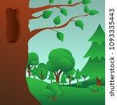 summer forest landscape. green... | Shutterstock . vector #1093335443
