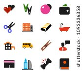 solid vector icon set  ... | Shutterstock .eps vector #1093336358