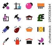 solid vector icon set   foam... | Shutterstock .eps vector #1093336364