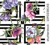 bouquet wildflowers pattern in... | Shutterstock . vector #1093338143