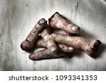 pile of human severed fingers...