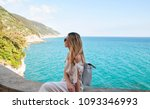 young woman on vacation  italy | Shutterstock . vector #1093346993
