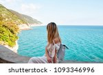 young woman on vacation  italy | Shutterstock . vector #1093346996