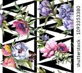 bouquet wildflowers pattern in... | Shutterstock . vector #1093353380