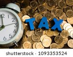 time to pay tax concept. tax... | Shutterstock . vector #1093353524