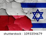 flags of poland and israel | Shutterstock . vector #1093354679