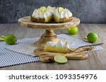 Lime Meringue Cake With Slice...