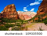 red rocks in zion national park ... | Shutterstock . vector #109335500