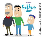 happy fathers day.  vector... | Shutterstock .eps vector #1093357553